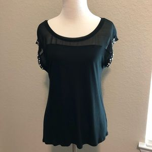 Black Express top short sleeves size small